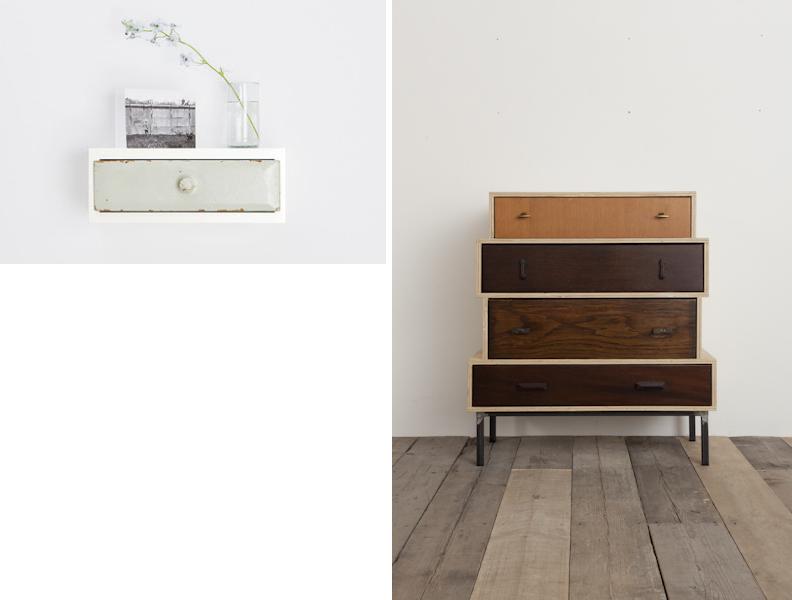 design di recupero / i cassetti di Franziska Wodicka e quelli di Rupert Blanchard